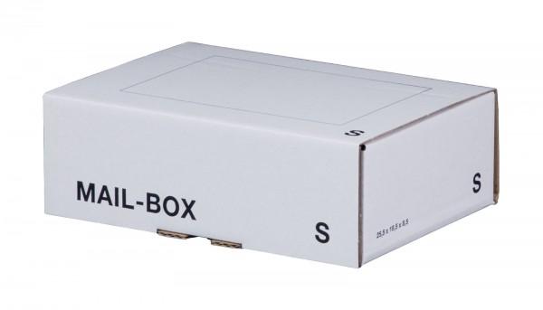 Versandkarton 249 x 175 x 79 mm mit Steckverschluss in Weiß