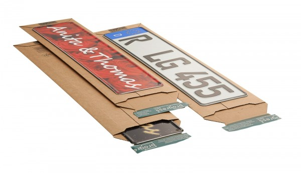 600 x 145 x -55 mm Kfz-Versandtasche aus Wellpappe