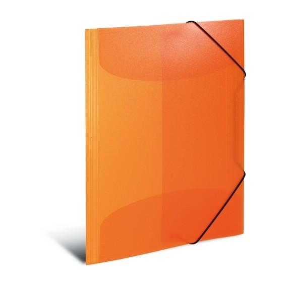 HERMA 19503 3x Sammelmappe A4 PP transluzent orange