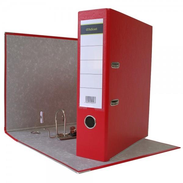 Ordner A4 8 cm PP Kunststoff Rot Aktenordner Briefordner