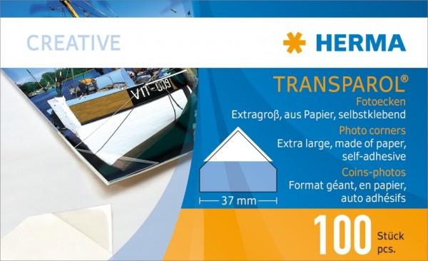 HERMA 1302 Transparol Fotoecken extra-groß 2er-Streifen 500 St.