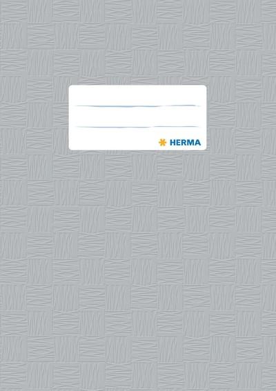 HERMA 7428 2500x Heftschoner PP A5 gedeckt/grau