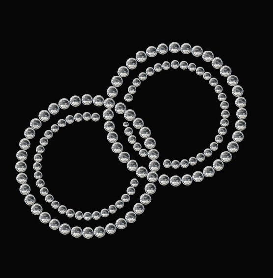 HERMA 15375 3x Crystal Sticker Ringe