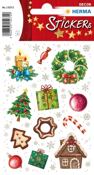 HERMA 15072 10x Sticker DECOR Weihnachtszeit