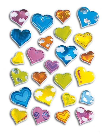 HERMA 5217 10x Sticker MAGIC Herzen, Stone