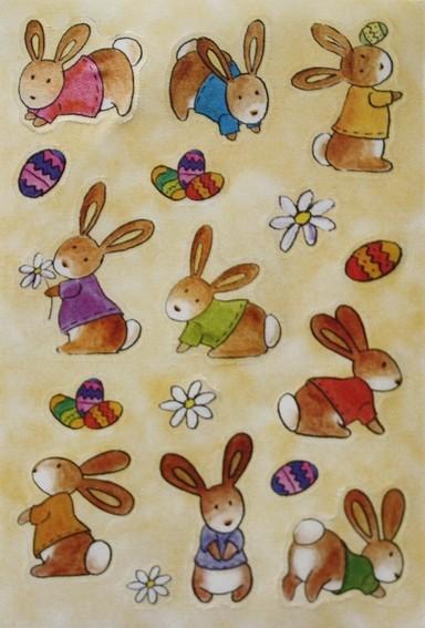 HERMA 6428 10x Sticker MAGIC Babyhäschen, Seide