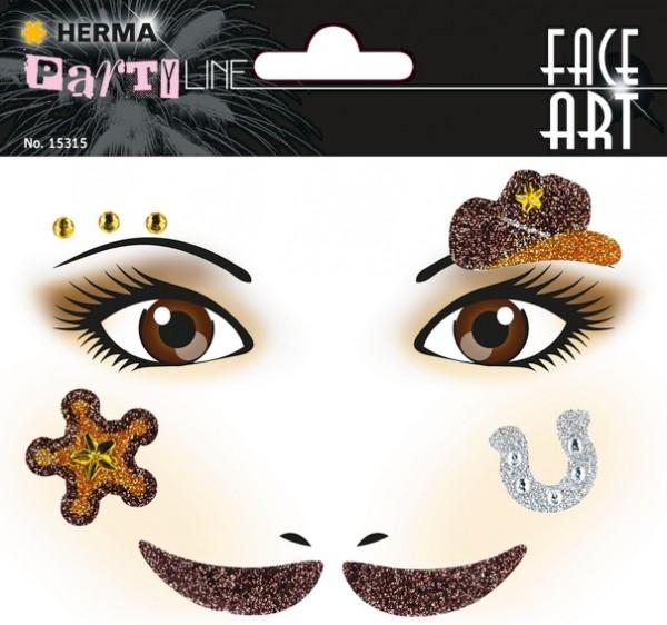 HERMA 15315 5x Face Art Sticker Cowboy