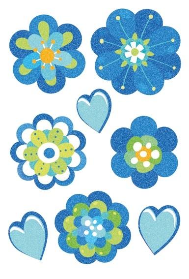HERMA 3706 10x Sticker MAGIC Blumenliebe, Crystal