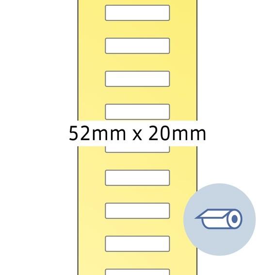 HERMA 4066 Rollenetiketten Thermotransfer 52x19,5 mm weiß Papier