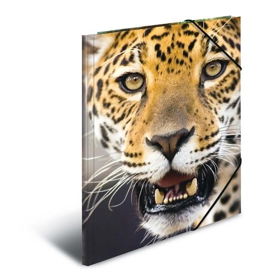 HERMA 7137 3x Sammelmappe A4 PP - Leopard
