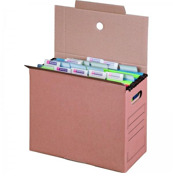Archivbox für Hängemappen 327 x 158 x 279 mm Braun