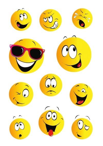 HERMA 15042 10x Sticker DECOR Happy Face