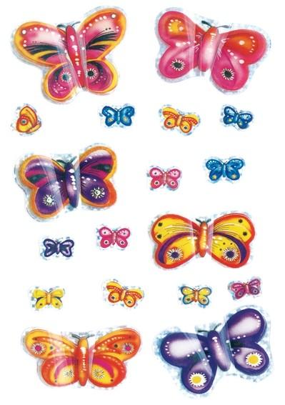 HERMA 6034 10x Sticker MAGIC Schmetterlinge, 3D Flügel