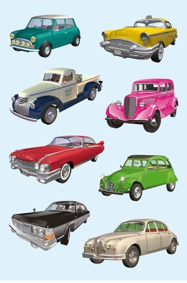 HERMA 3452 10x Sticker DECOR Autos II