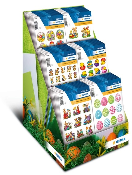 HERMA 3047 Display Sticker DECOR Ostern 2013 Papier 60 Pack.