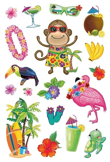 HERMA 3242 10x Sticker MAGIC Hawaii, Prismaticfolie