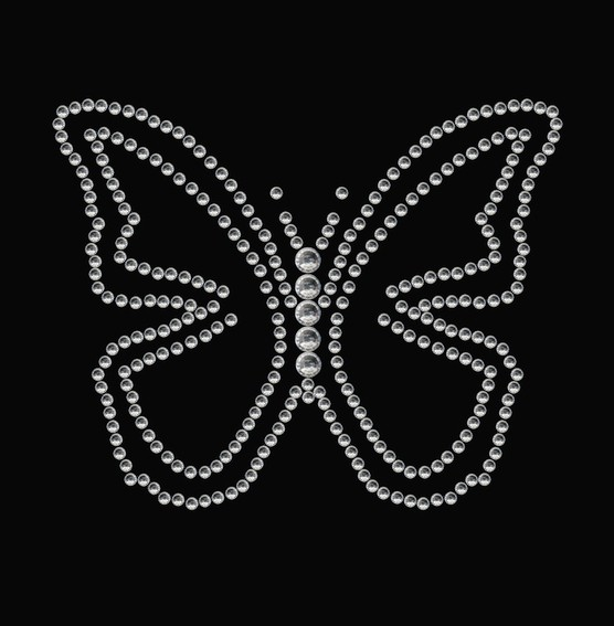 HERMA 15379 3x Crystal Sticker Schmetterling