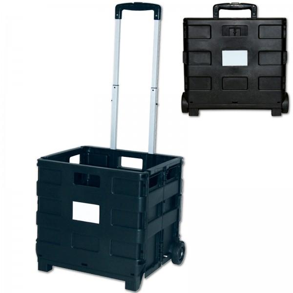 Einkaufstrolley klappbar 33,6 l belastbar bis 35 kg Schwarz