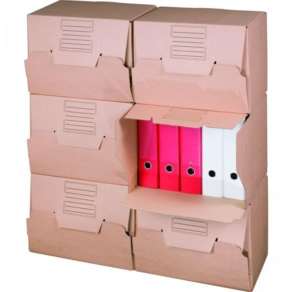 Archivcontainer für Ordner 426 x 326 x 295 mm Braun