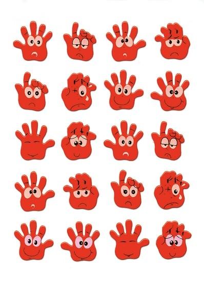 HERMA 6454 10x Sticker MAGIC Hände, Neon