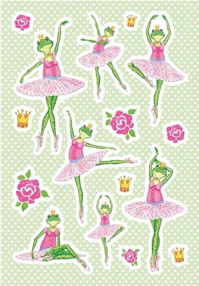 HERMA 3091 10x Sticker MAGIC Frosch Ballerina, Folie beglimmert