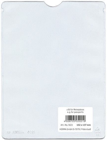 HERMA 5021 25x Ausweishüllen 102x137 mm für Reisepässe