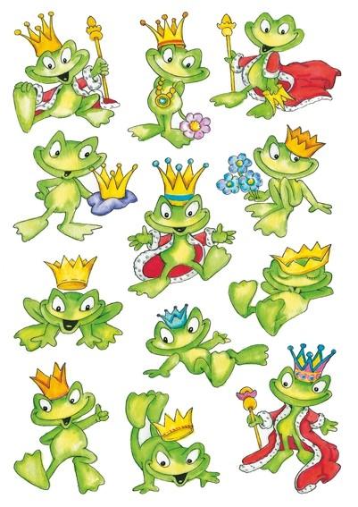 HERMA 3429 10x Sticker DECOR Froschkönig