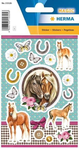 HERMA 15326 10x Sticker MAGIC Horses In Love, Jewel