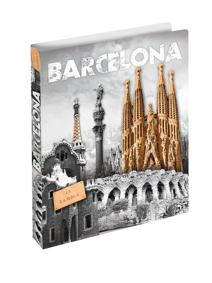 HERMA 19136 3x Ringbuch A4 Barcelona