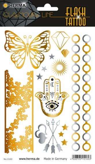 HERMA 15160 5x FLASH Tattoo Orient