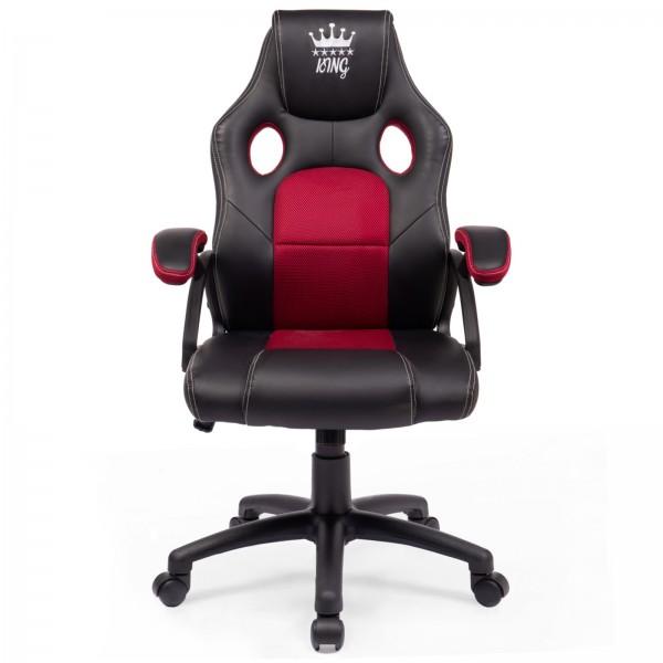 Midori® Racing Stuhl Bürostuhl Drehstuhl Sportsitz Schwarz/Bordeaux