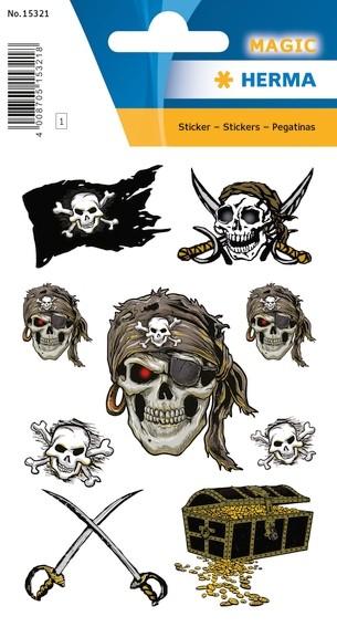 HERMA 15321 10x Sticker MAGIC Pirat, Glitterfolie