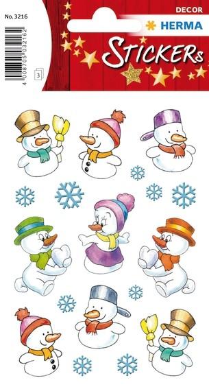 HERMA 3216 10x Sticker DECOR Schneemänner