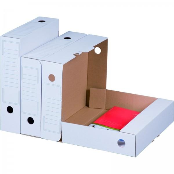Archiv-Ablagebox 250 x 70 x 317 mm Weiß