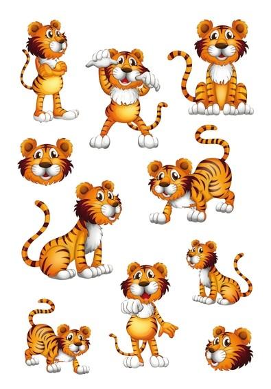 HERMA 3177 10x Sticker MAGIC Tiger, Wackelaugen