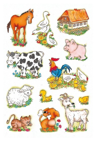HERMA 5419 10x Sticker DECOR Bauernhoftiere