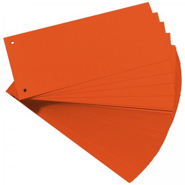 Trennstreifen aus Manilakarton 10,5 x 24 cm 160 g/m² Orange