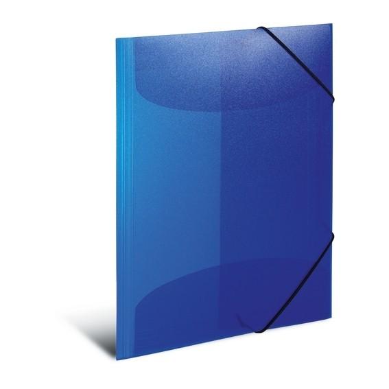 HERMA 19507 3x Sammelmappe A4 PP transluzent dunkelblau