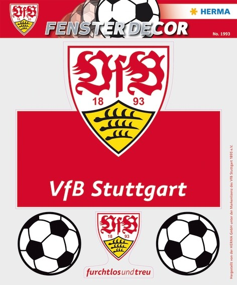 HERMA 1993 Fensterdecor VfB 25 x 35 cm, Brustring