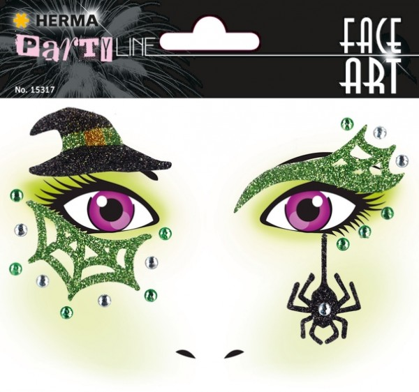HERMA 15317 5x Face Art Sticker Hexe