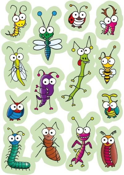 HERMA 3268 10x Sticker MAGIC lustige Insekten, Wackelaugen