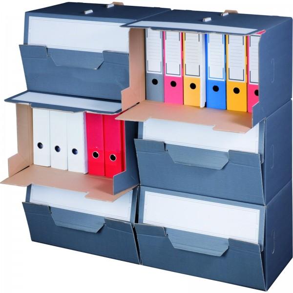 Archivcontainer für Ordner 504 x 325 x 305 mm Anthrazit