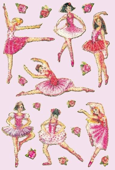 HERMA 6158 10x Sticker MAGIC Ballerina, Crystal