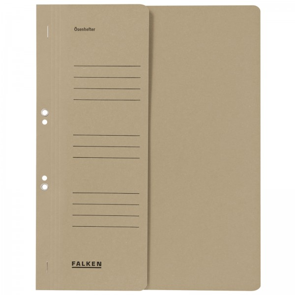 Ösenhefter DIN A4 1/2 Vorderdeckel kaufmännische Heftung Grau