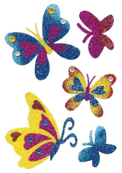 HERMA 6666 10x Sticker MAGIC Schmetterlinge Diamond glittery