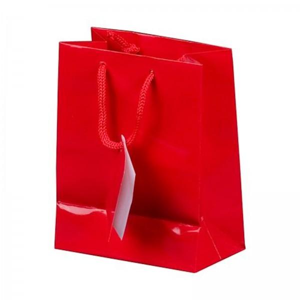 Geschenktüte in Rot Hochglanz 180 x 100 x 227 mm