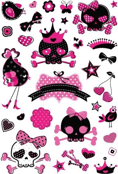 HERMA 3683 10x Sticker MAGIC Piraten Girl, Folie Glittery