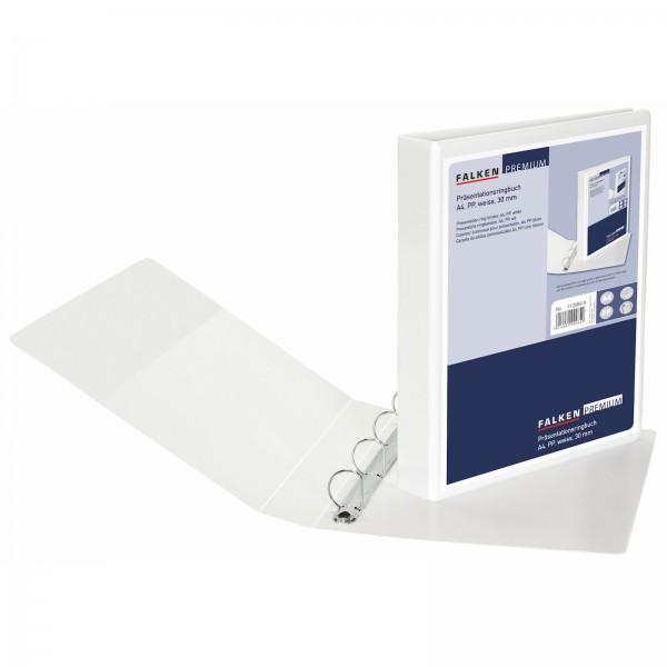 Präsentationsringbuch PP DIN A4 4 Ringe 30 mm Weiß