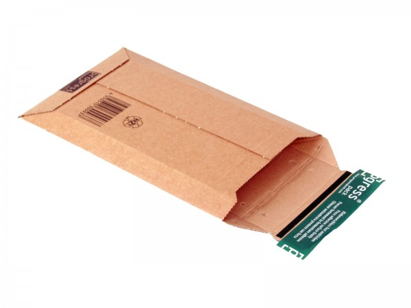 268 x 167 x -52 mm DVD-Versandtasche aus Wellpappe (braun)