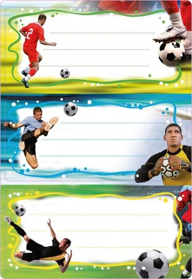 HERMA 5588 10x Schuletiketten Fußball, beglimmert